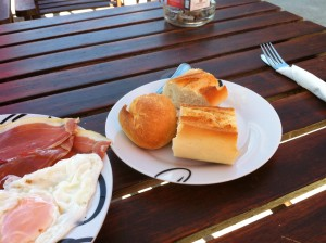 breakfast during camino de santiago is no punishment