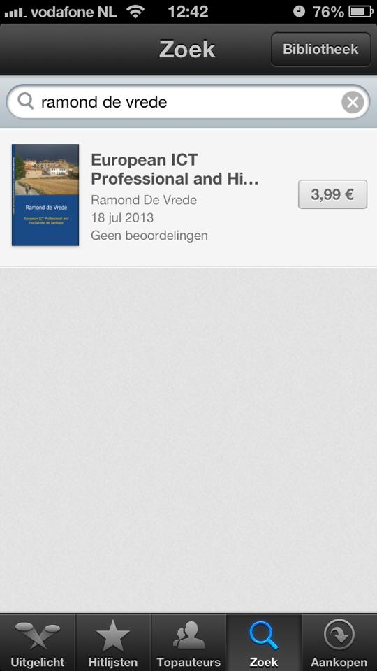eBook in ibookstore on author